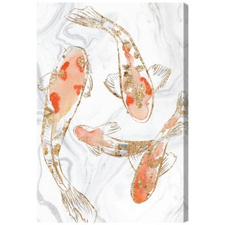 Oliver Gal 'Koi Pond Marble by Julianne Taylor' Canvas Art
