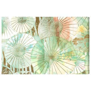 Oliver Gal 'Umbrella Shop Jade by Julianne Taylor' Canvas Art