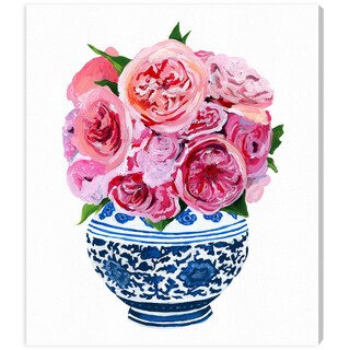 Oliver Gal 'Peonie Vase by Julianne Taylor' Canvas Art
