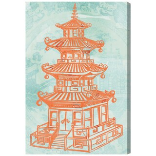 Oliver Gal 'Pagoda Lagoon by Julianne Taylor' Canvas Art