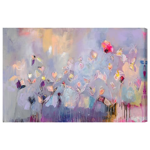 Oliver Gal '18366 Michaela Nessim - Infinitely Divine' Abstract Wall Art Canvas Print - Purple, Pink