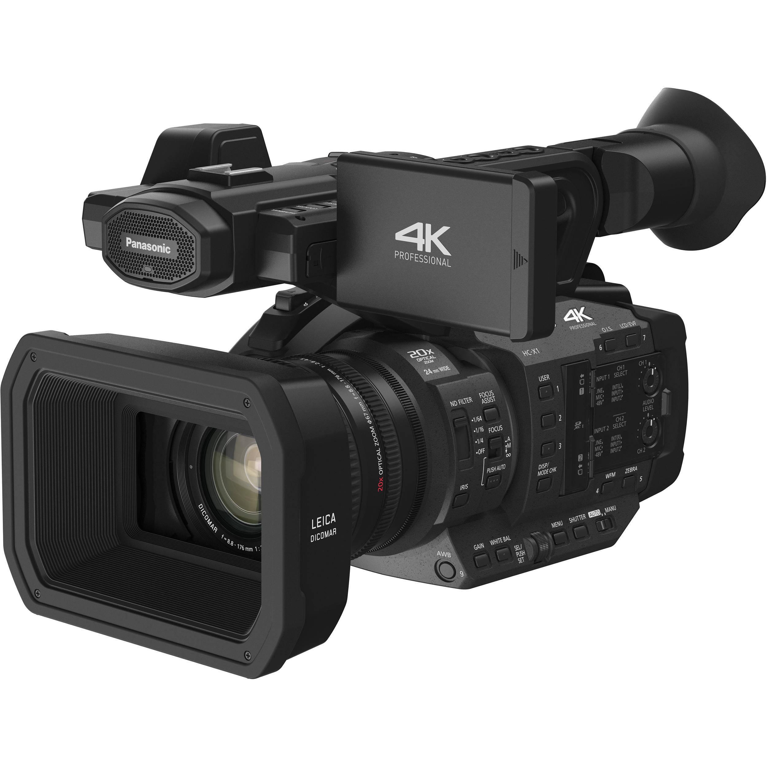 Panasonic HC-X1 4K Ultra HD Professional Camcorder, Black...
