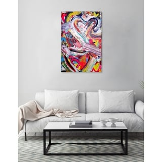 Oliver Gal 'Love Remix by Tiago Magro' Canvas Art