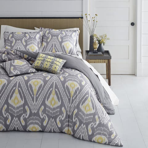 Azalea Skye Global Ikat Grey Comforter Bonus Set