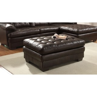 Daisy Dark Brown Bonded Leather Chaise Ottoman