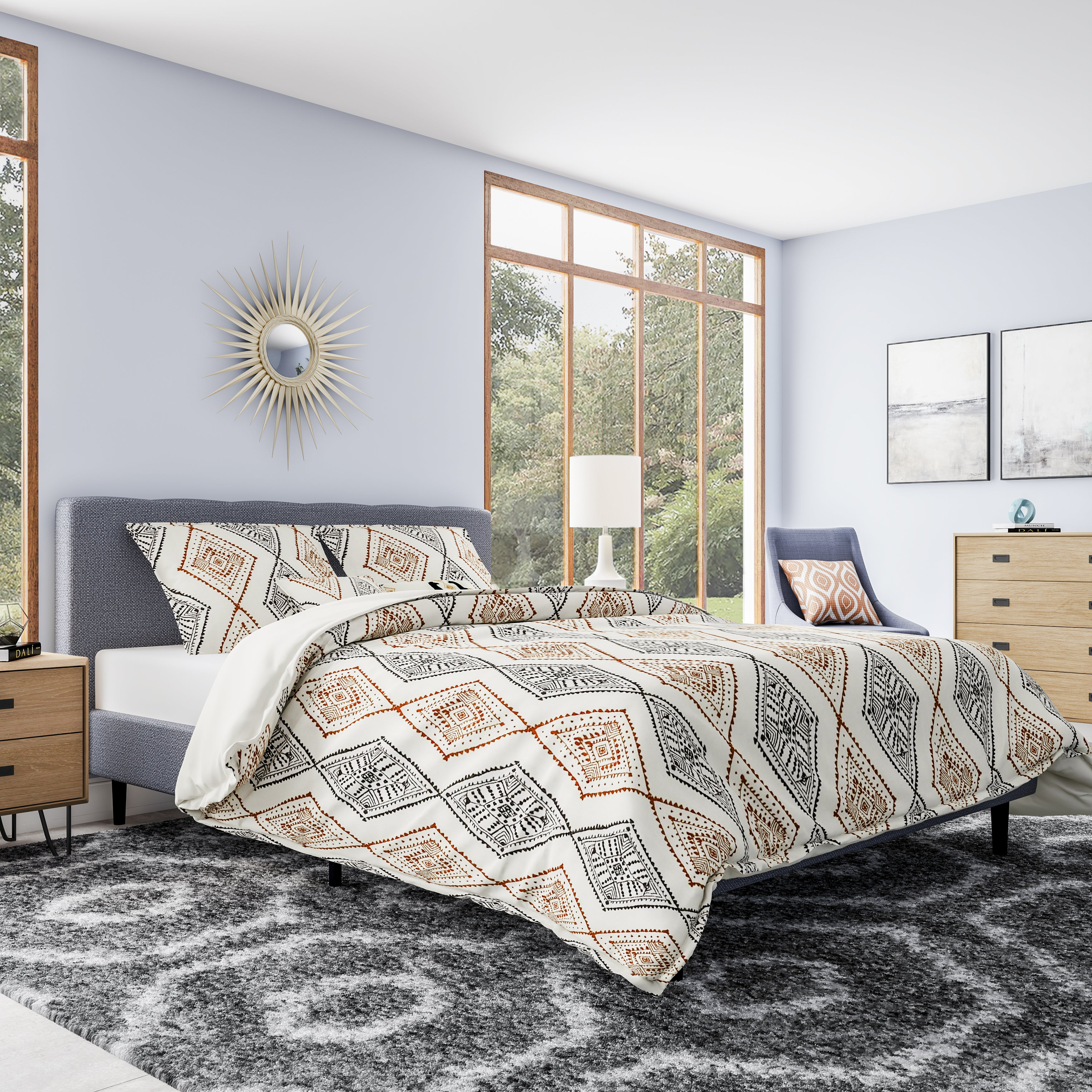colorblock home sheets overstock chic set microfiber product serenity bed com piece with comforter bath bedding