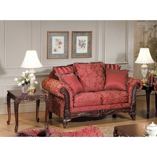 Fairfax Traditional Loveseat with 5 Pillows