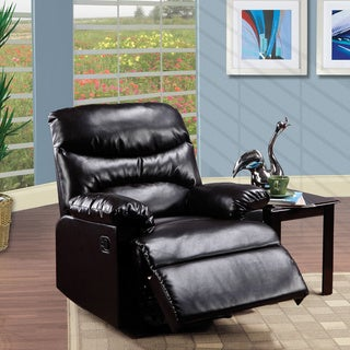 Impress Espresso Arcadia Brown Faux-leather Recliner
