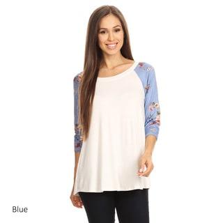 Women's Floral Raglan Sleeve Tunic