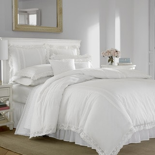 Laura Ashley Annabella White Cotton Duvet Cover Set