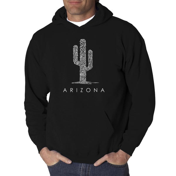 Los Angeles Pop Art Mens Hooded Sweatshirt - Arizona Cities