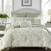 Laura Ashley Natalie Green Comforter Bonus Set (As Is Item)