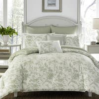 Laura Ashley Natalie Green Floral Comforter Bonus Set
