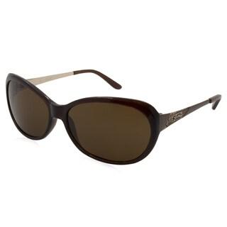 Women's Guess Sunglasses-7104/Frame: Brown Lens: Brown