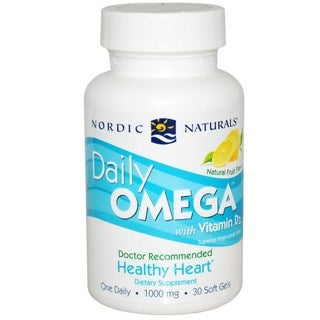Nordic Naturals Daily Omega with Vitamin D3 (30 Softgels)