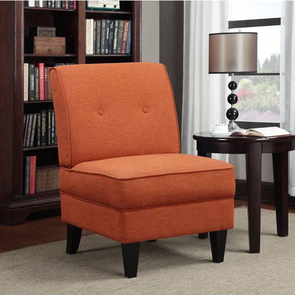 Colby Accent Chair Modern Contemporary Dusk Living Room: Portfolio Engle Orange Linen Armless Chair