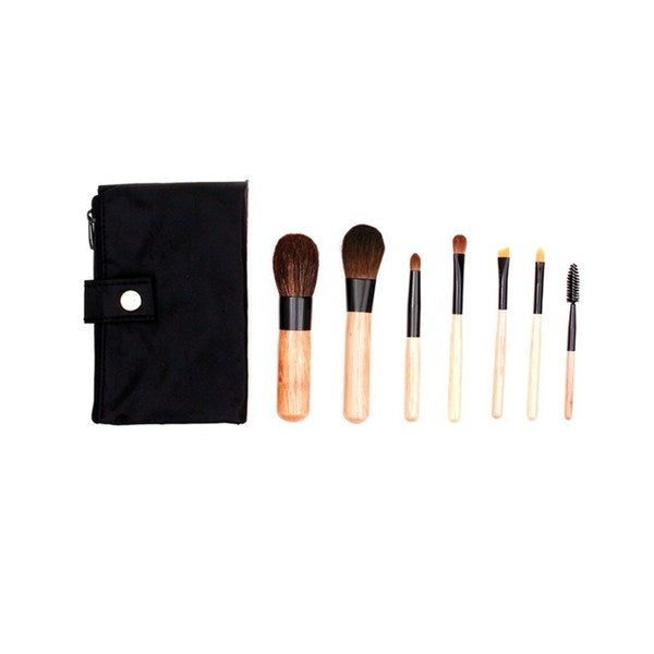 Shop Crown 7-piece Mini Sable Makeup Brush Set - Free Shipping On Orders  Over  45 - Overstock.com - 15744374 3b85847e1a03