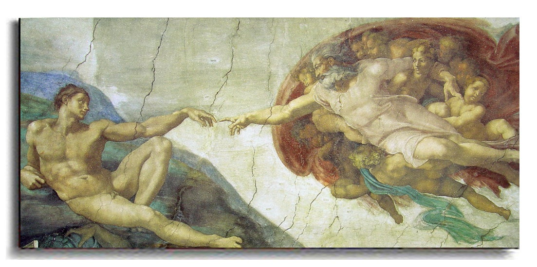 Creation of Adam by Michelangelo Canvas Art - Free Shipping Today ...