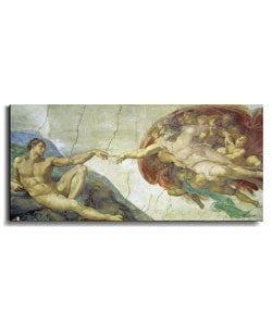 Creation of Adam by Michelangelo Canvas Art