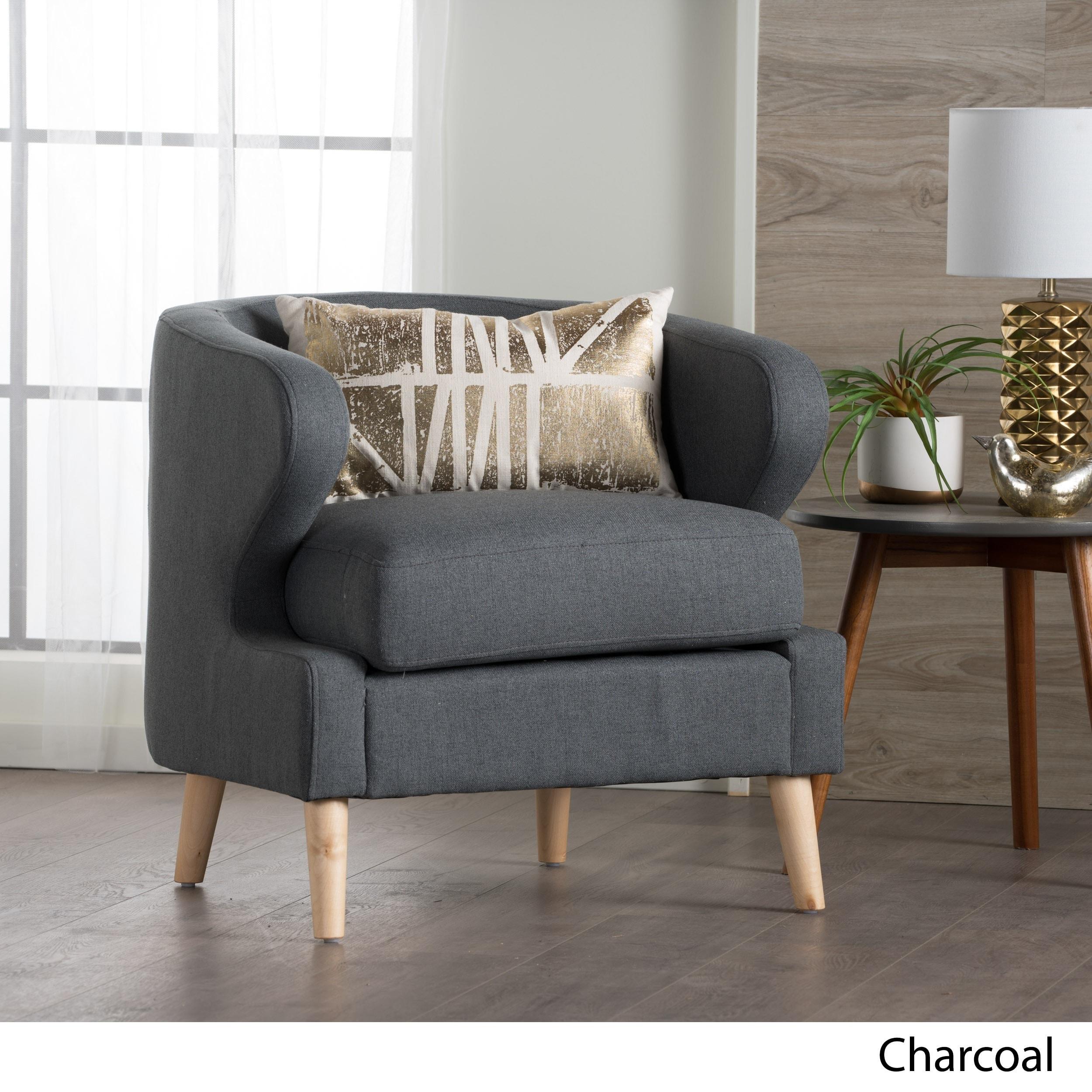 Gianna Mid Century Petite Fabric Club Chair By