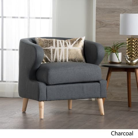 Gianna Mid-Century Petite Fabric Club Chair by Christopher Knight Home