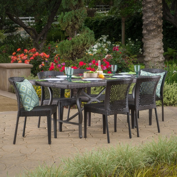 Charleston Outdoor 7 Piece Rectangle Dining Set By Christopher Knight Home
