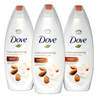 Dove Purely Pampering 22-ounce Almond Cream with Hibiscus Body Wash (Pack of 3)