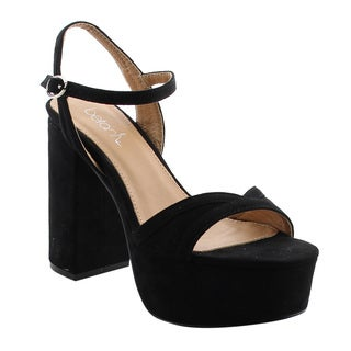 Beston FH58 Women's Single Strap Platform Chunky Block Heel Sandals