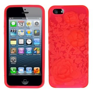 Insten Hot Pink TPU Rubber Candy Skin Case Cover For Apple iPhone 5/ 5S/ SE