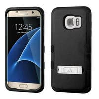 Insten Hard PC/ Silicone Dual Layer Hybrid Rubberized Matte Case Cover with Stand For Samsung Galaxy S7 Edge