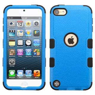 Insten Blue/ Black Tuff Hard PC/ Silicone Dual Layer Hybrid Rubberized Matte Case Cover For Apple iPod Touch 5th Gen/ 6th Gen
