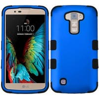 Insten Hard PC/ Silicone Dual Layer Hybrid Rubberized Matte Case Cover For LG K10 (2016) K420N