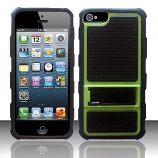 Insten Hard Snap-on Case Cover with Stand For Apple iPhone 5/ 5S/ SE