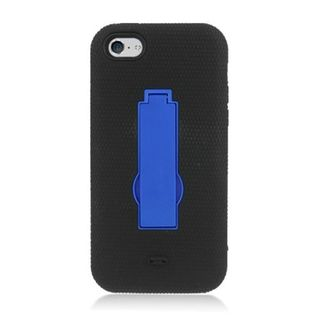 Insten Soft Silicone/ PC Dual Layer Hybrid Rubber Case Cover with Stand For Apple iPhone 5C