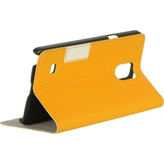 Insten Leather Case Cover with Stand/ Wallet Flap Pouch For Samsung Galaxy Note 4 (Option: Orange)