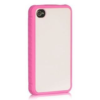 Insten Hot Pink Silicone Skin Gel Rubber Case Cover For Apple iPhone 4/ 4S