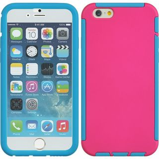 Insten TPU Rubber Candy Skin Case Cover with Screen Protector For Apple iPhone 6/ 6s