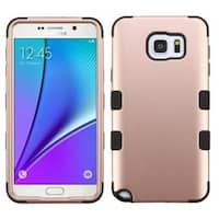 Insten Rose Gold/ Black Tuff Hard PC/ Silicone Dual Layer Hybrid Rubberized Matte Case Cover For Samsung Galaxy Note 5
