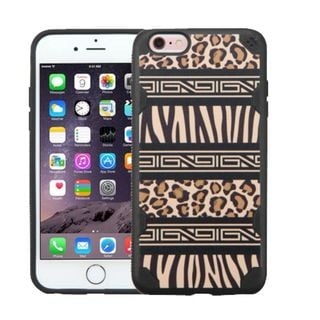 Insten Black/ Brown Zebra Hard Snap-on Case Cover For Apple iPhone 6 Plus/ 6s Plus