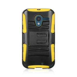 Insten Hard PC/ Silicone Dual Layer Hybrid Case Cover with Holster For Motorola Moto X 1st Gen