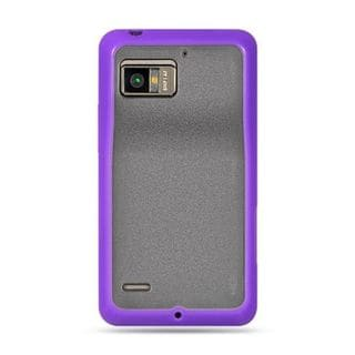 Insten Clear TPU Rubber Candy Skin Case Cover For Motorola Droid Bionic XT875 Targa