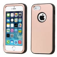 Insten Rose Gold/ Black Tuff Hard PC/ Silicone Dual Layer Hybrid Rubberized Matte Case Cover For Apple iPhone 5/ 5S/ SE