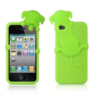 Insten Soft Silicone Skin Rubber Case Cover For Apple iPhone 4/ 4S