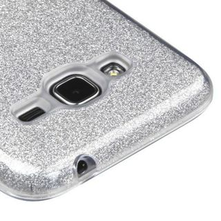 Insten Hard Snap-on Dual Layer Hybrid Glitter Case Cover For Samsung Galaxy J3 (2016)/ Sky