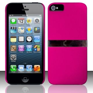 Insten Hard Snap-on Rubberized Matte Case Cover with Stand For Apple iPhone 5/ 5S/ SE