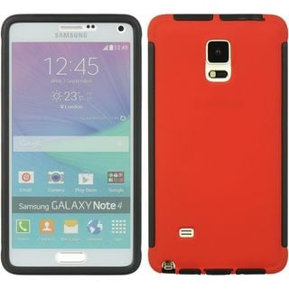 Insten TPU Rubber Candy Skin Case Cover with Screen Protector For Samsung Galaxy Note 4