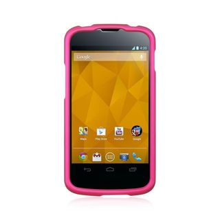Insten Hard Snap-on Rubberized Matte Case Cover For LG Google Nexus 4 E960