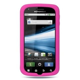 Insten Soft Silicone Skin Rubber Case Cover For Motorola Atrix 4G MB860