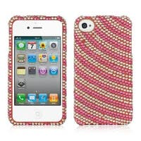 Insten Hard Snap-on Diamond Bling Case Cover For Apple iPhone 4/ 4S