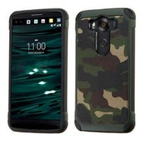 Insten Hard PC/ Silicone Dual Layer Hybrid Rubberized Matte Case Cover For LG V10